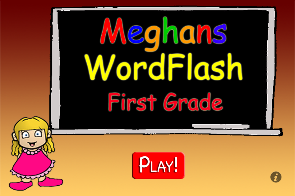 Screenshot Meghan's FlashCards 1st Grade